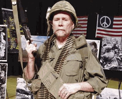 Arn Kind, a teacher for more than 40 years, will wear authentic uniform of a Vietnam-era American soldier during his presentation on the Vietnam War.