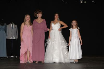 A bridal show that will feature about half a dozen models dressed in bridal gowns, gowns for attendants, mothers-of-the-bride and flower girls.