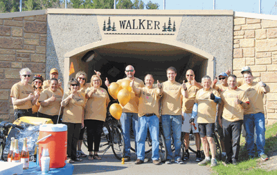 The Walker bicycle Friendly Committee after the reveal designated the town with a bronze level award.
