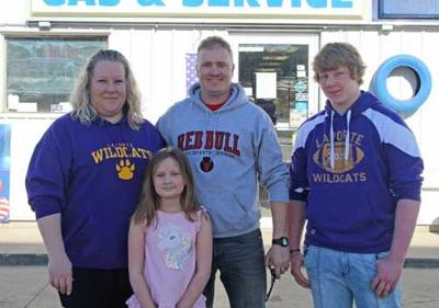 Jessica and Lyle Howg, who purchased the business in 2018, are pictured with two of their three children, Aubrey and Caleb.