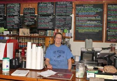 Deb Holloway has been making cups of coffee and other specialities at Walker Bay Coffee for 16 years.