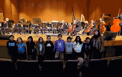 Second-grade students at the Bug-O-Nay-Ge-Shig School were recently invited to attend a special children's concert to hear the Bemidji Symphony Orchestra.