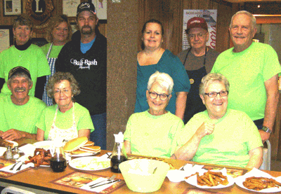 Pictured are (seated from left) Larry and Marty Whalen, coordinator Lynne Gagnon, Sue Wolf, (standing) Debra Wynn, Janine Thaler, Glen and Rachel Hockett, Tom Yurich and Legion Commander Bill Taylor. Not pictured is Judy Johnston.