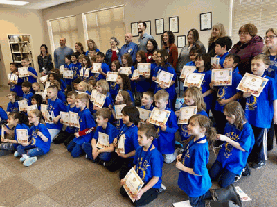 """The Walker Rotary wrapped up the """"Climb to the Top"""" Reading challenge last week as the second-grade classes attended a Rotary meeting."""