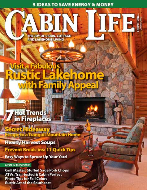 Home Built By Northwoods Log Homes Featured In National Magazine