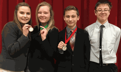 Wyatt Lahr took second and Autumn Howg fifth in Storytelling while Hannah Kahlstorf was sixth in Great Speeches.  Joe Pierce competed in Prose.