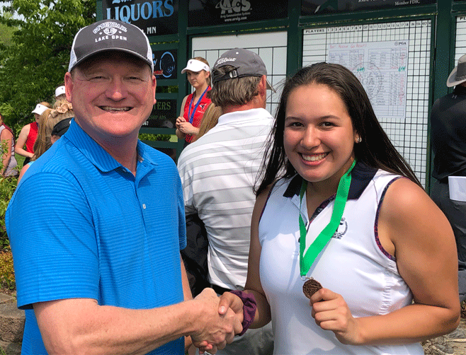 Justine Day qualified for State for the third straight year with a fifth-place finish in the Section 6A Tournament.