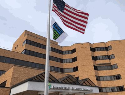 Donate Life flag at Essentia Health-St. Joseph's Medical Center in Brainerd.