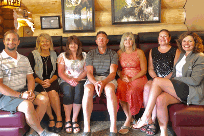 Pictured are (from left) Jerecho Worth, VP Education; Kristin Holly, VP Public Relations; Patty Nadeau, secretary; Chad Nelson, sergeant at arms; Jennifer Strickland, treasurer; Becky Toso, president; and Amy Efta, VP Membership.