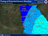 Severe weather likely Saturday