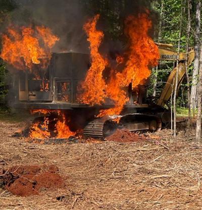 Excavator Fire