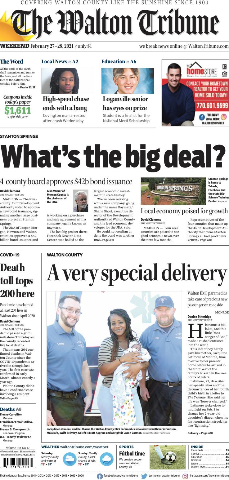 Feb. 28, 2021, Front Page