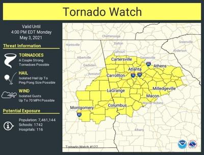 Tornado Watch May 3, 2021