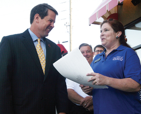 Brian Kemp and Polly Gasstrom