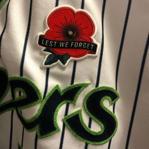 Baseball teams to wear Michael's poppy Monday