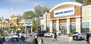 <p>An artist's rendering imagines the future Monroe Pavilion retail development planned for Charlotte Rowell Boulevard.</p>