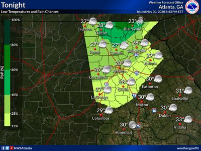 Weather Forecast Monday night, Nov. 30, 2020