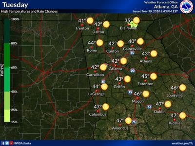 Weather Forecast Tuesday, Dec. 1, 2020