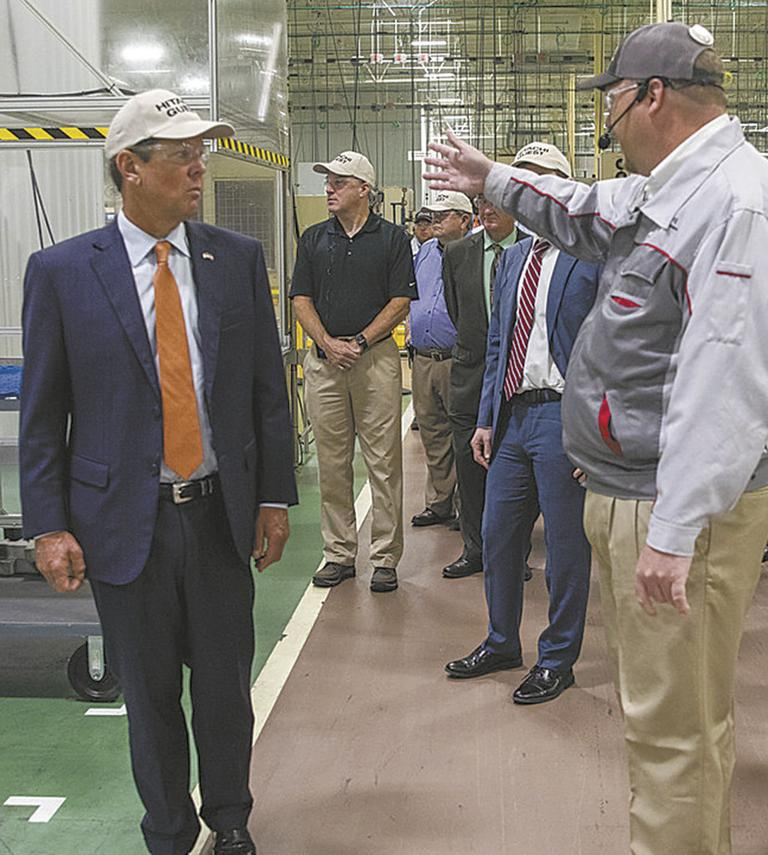 Kemp touts state's manufacturing power