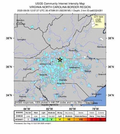 Sparta, NC, Earthquake