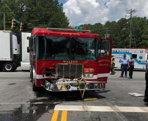 Crash Involves Fire Truck