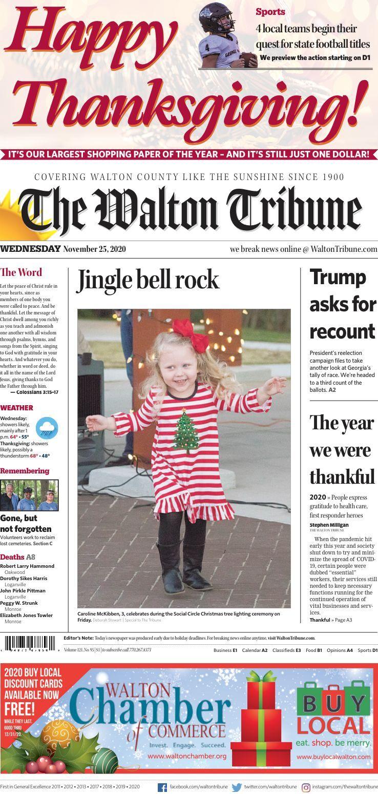 Walton Tribune Wednesday, Nov. 25, 2020