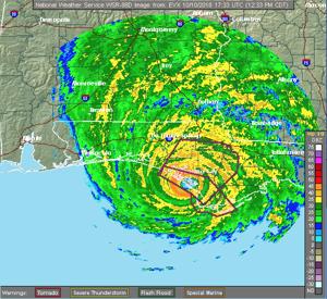 Northwest Florida Radar 12:33 p.m. CDT Wednesday, Oct. 10, 2018