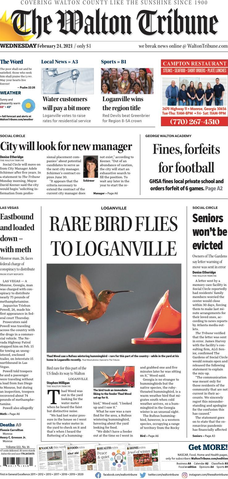 Feb. 24, 2021, Front Page