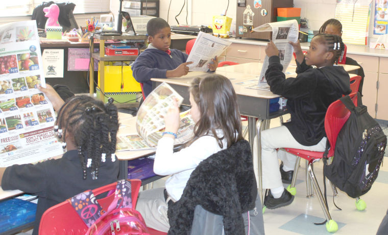 Students use newspaper as classroom aid to meet Common Core standards
