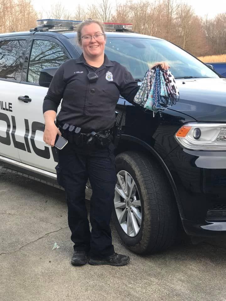 Boonville officer sews masks between shifts