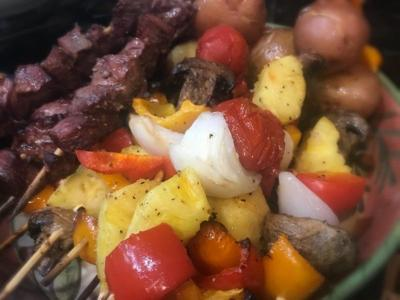 Kabobs are great on the grill