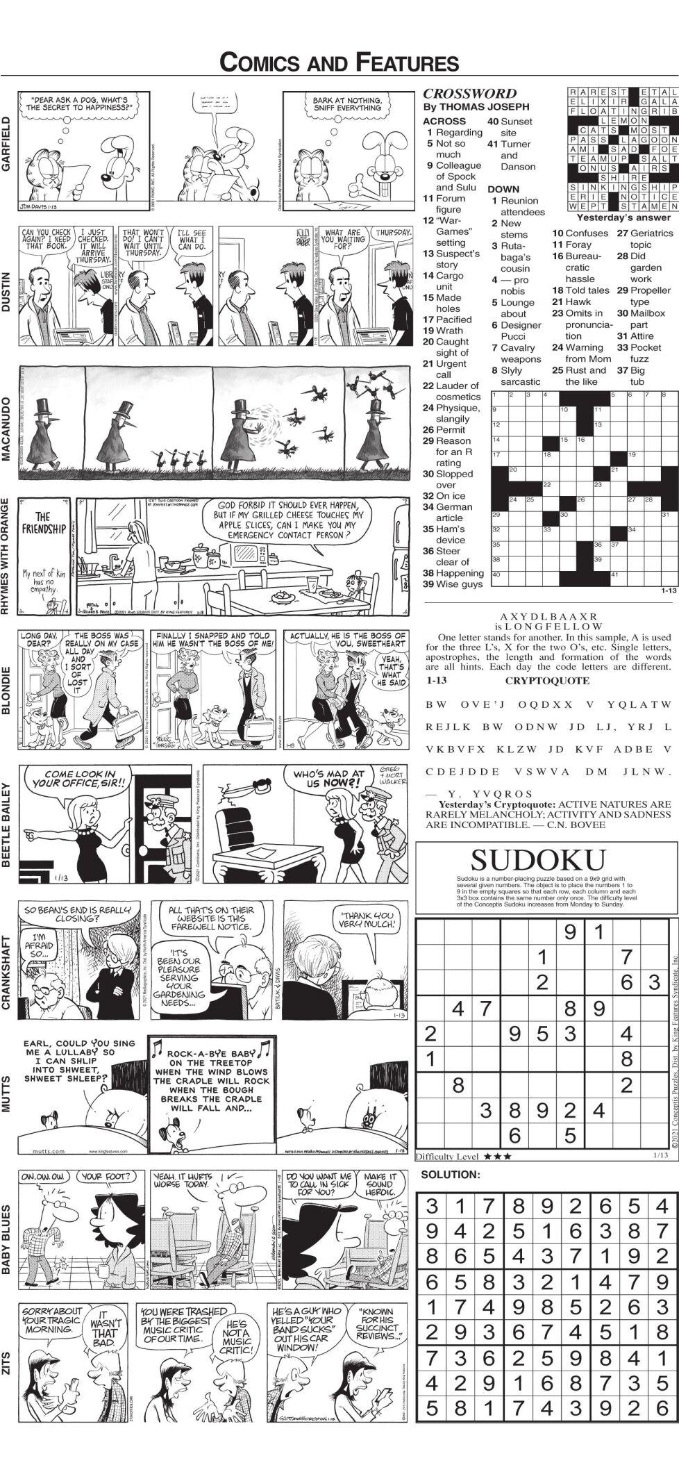 Comics Wed. 1-13-21