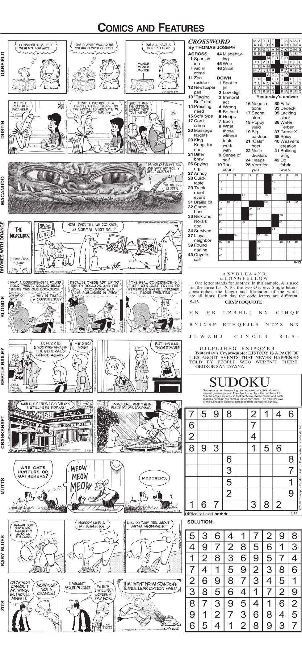 Comics Wednesday, May 13, 2020