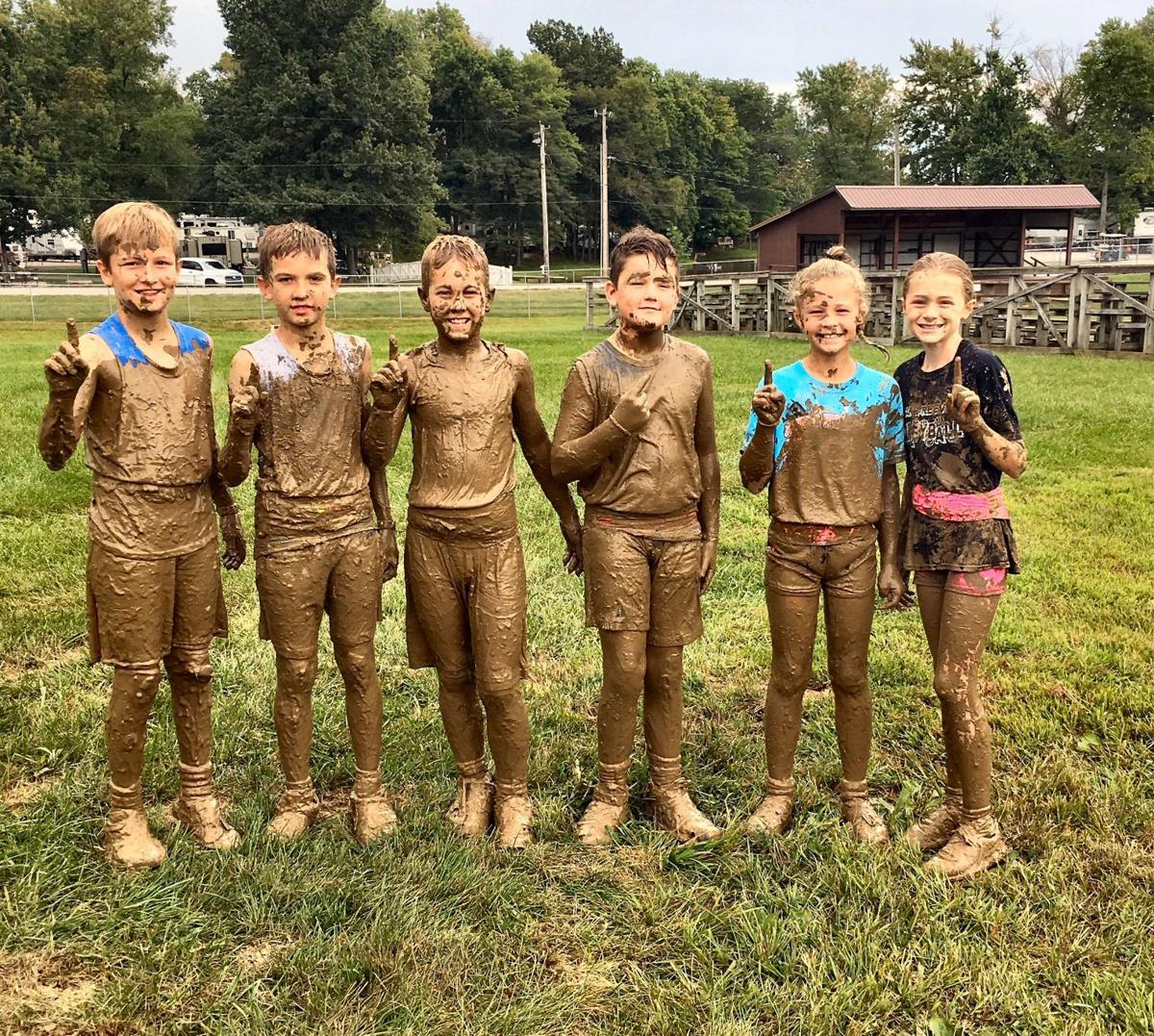 Junior mud volleyball