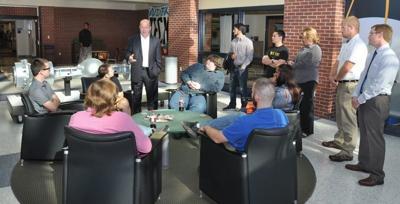 Bucshon talks with VU tech students