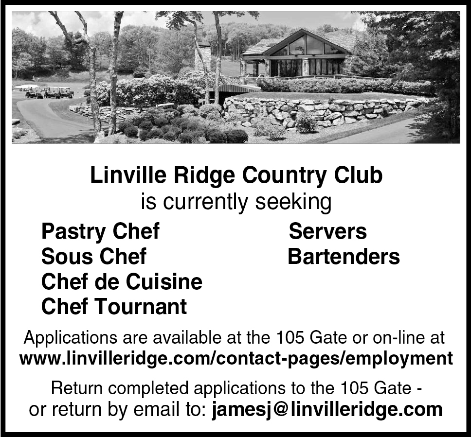 Pastry Chef, Sous Chef, Chef de Cuisine, Chef Tournant, Servers, Bartenders