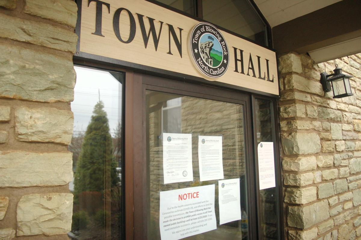 Blowing Rock Town Hall closed
