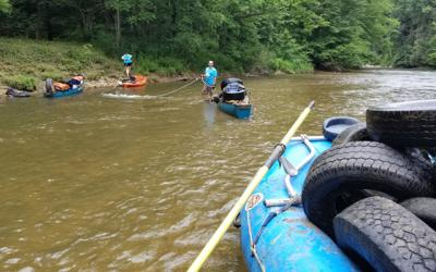 North Fork New River cleanup
