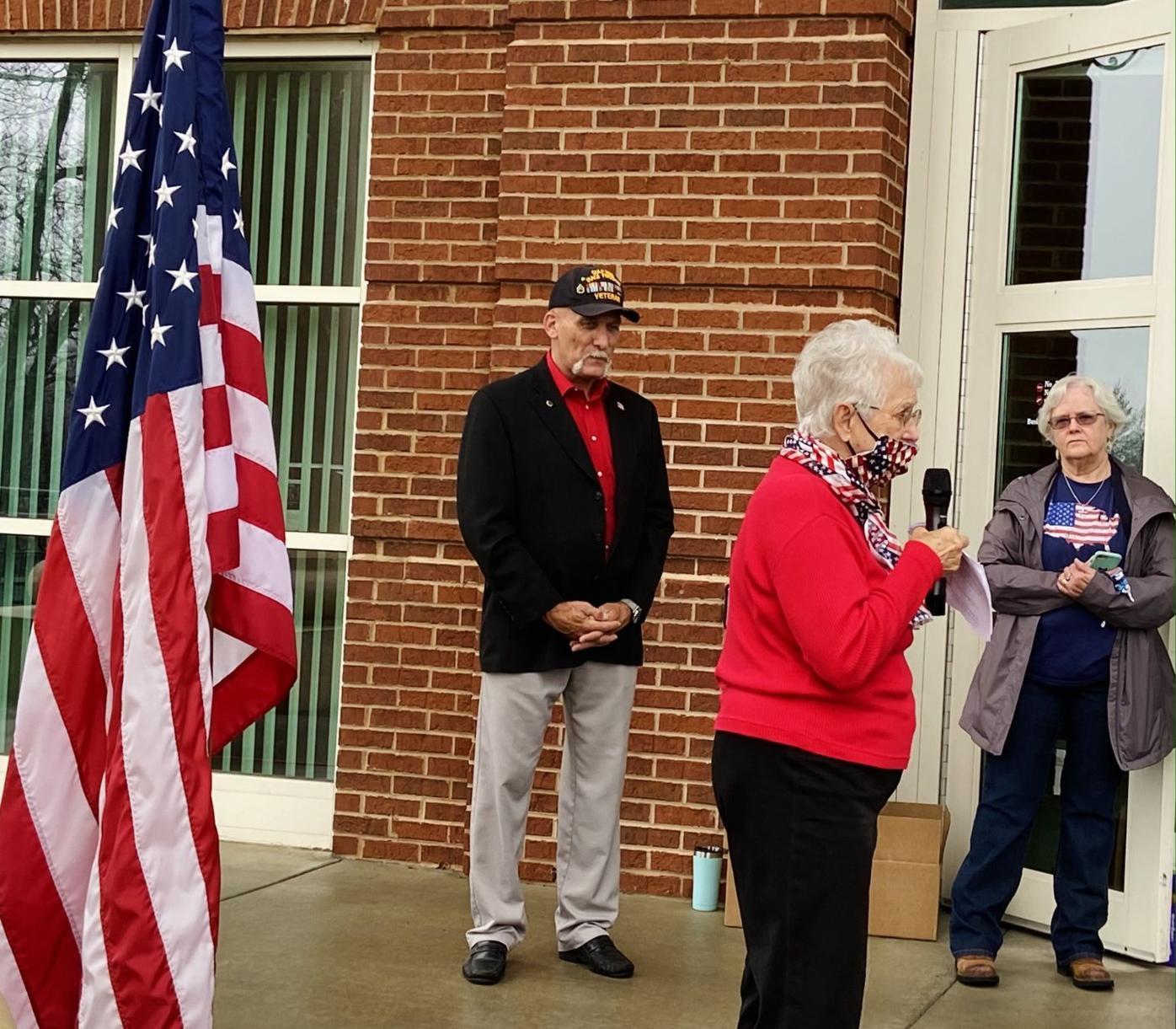 Virginia Foxx Ashe County Vet Day 2020