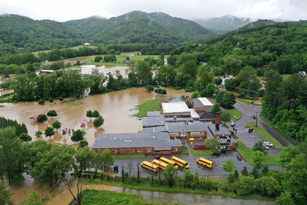 Valle Crucis School flooding
