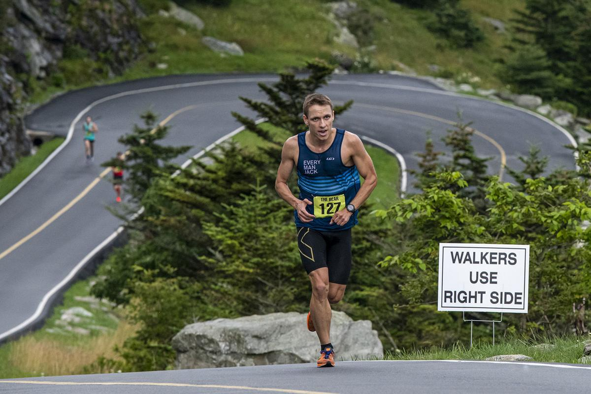 Johnny Crain, 27, of ZAP Fitness in Blowing Rock, finished first overall in The Bear foot race with a time of 30:58.7
