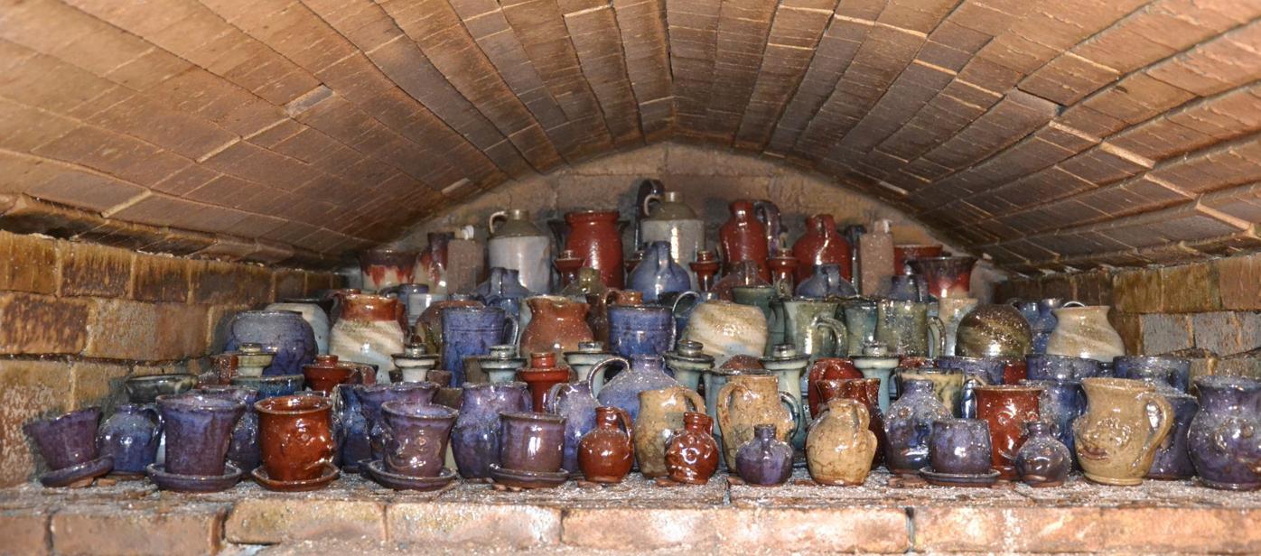 Pottery in kiln