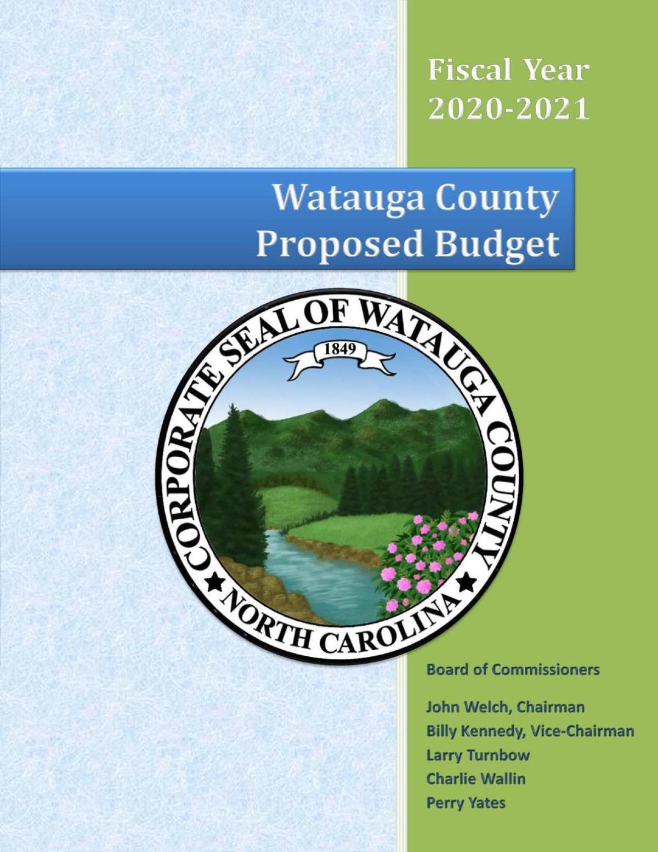 Watauga County 2020-21 proposed budget