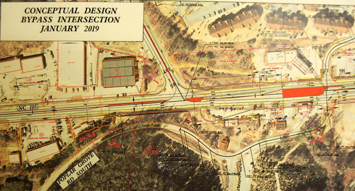 NC 105 Bypass redesign