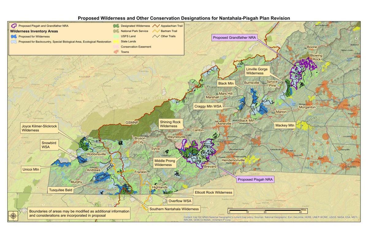Grandfather National Recreation Area proposed