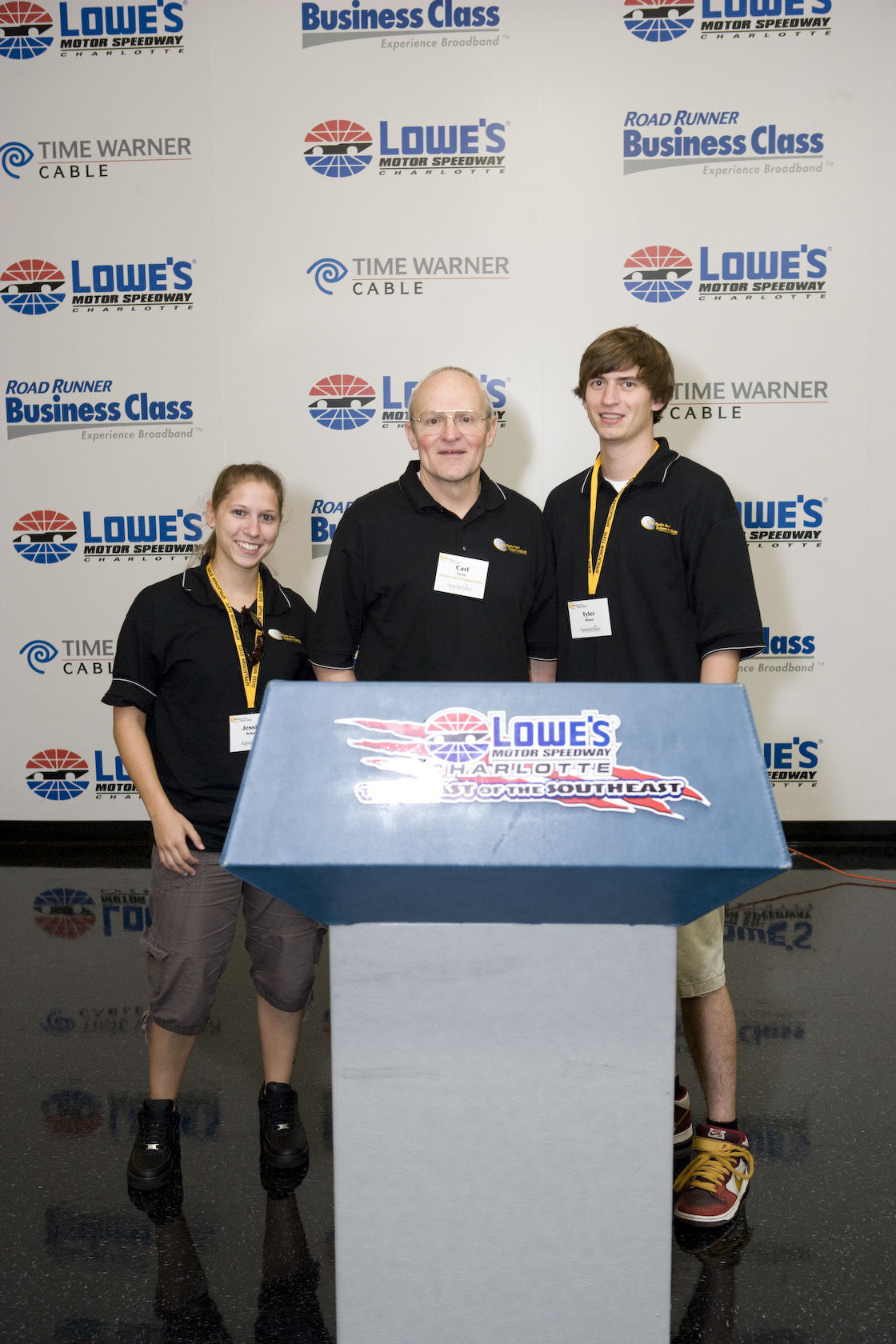 Carl with students at Performance Racing Network during Kellar Radio Talent Institute.jpg