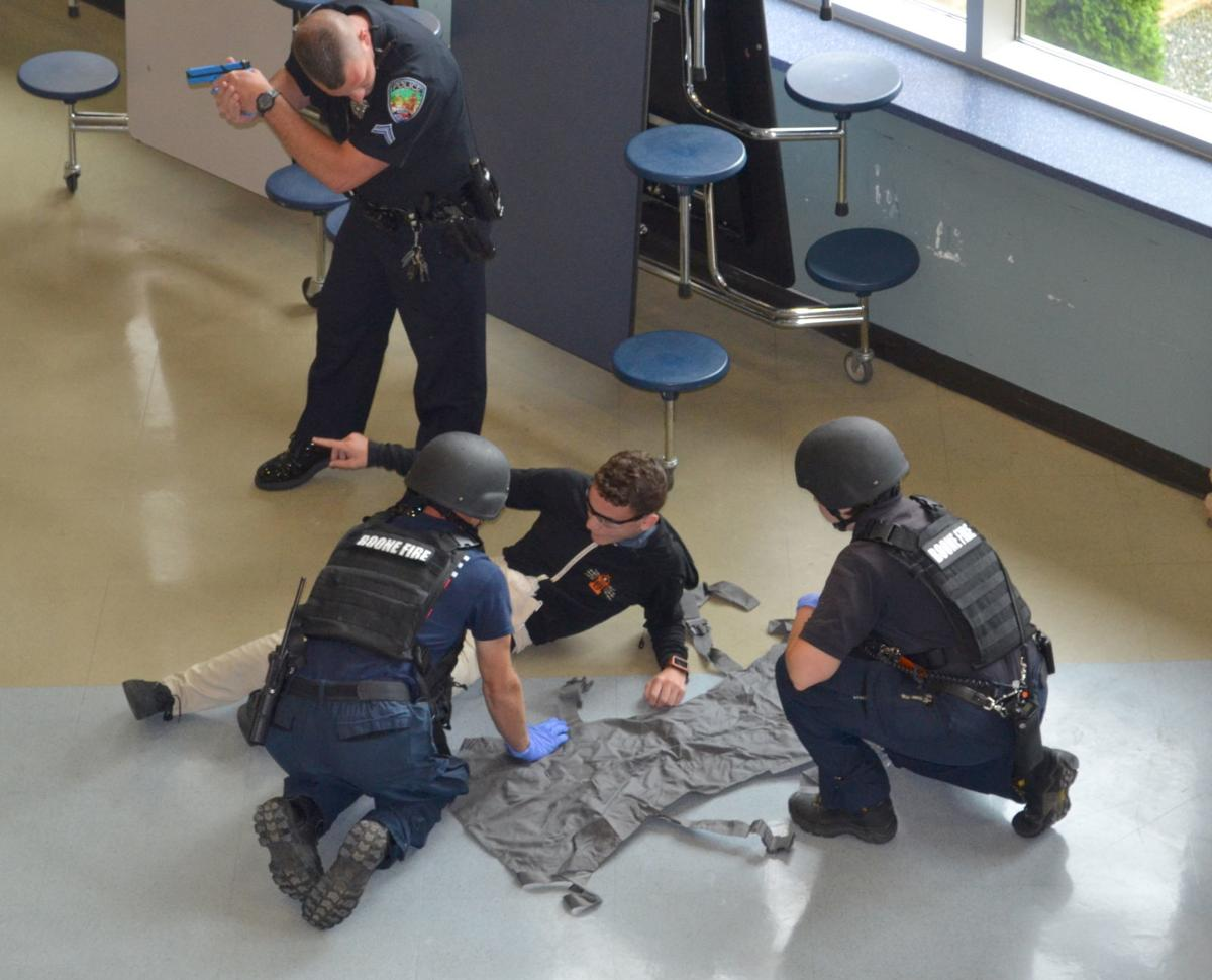 Active shooter demonstration