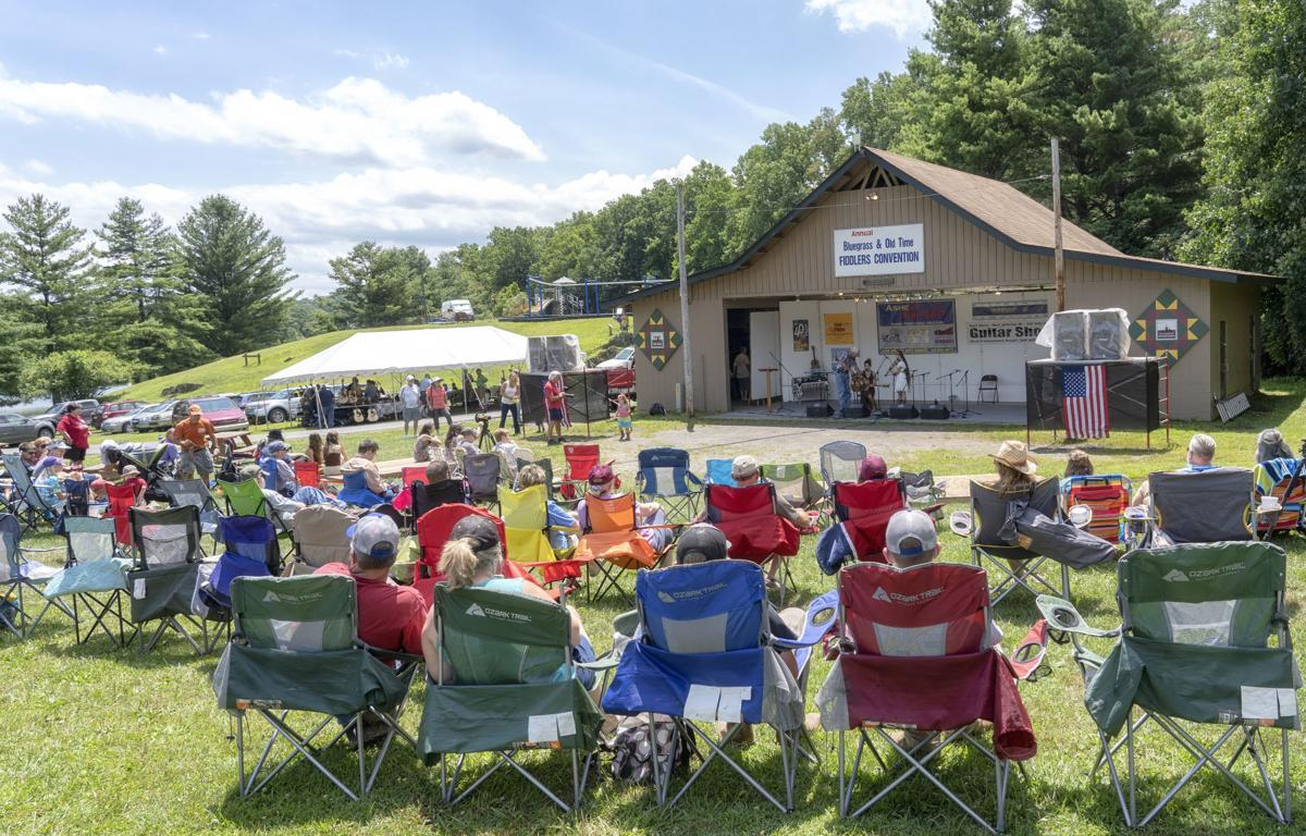 A view from the Ashe County Bluegrass and Fiddlers Convention in 2018