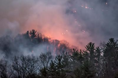 Spring wildfire