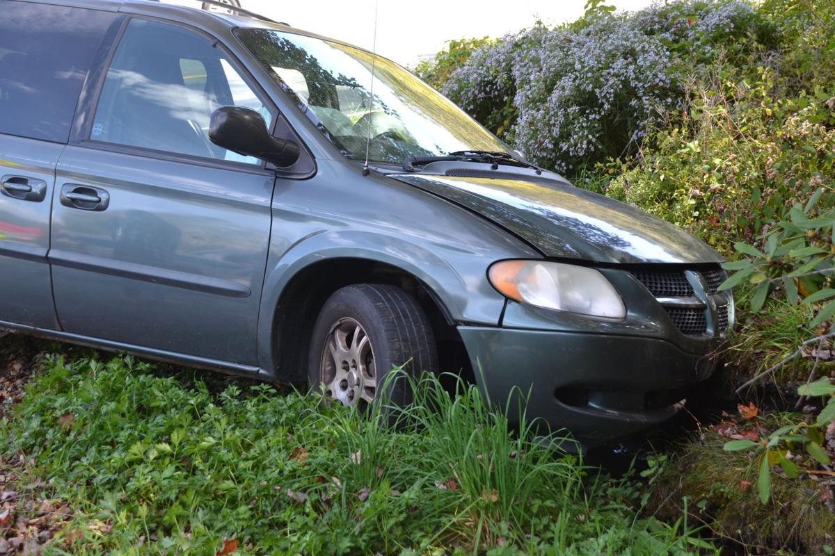 Old Car Wreck Near A Ditch